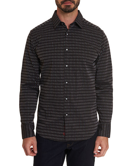 Robert Graham Men's Cubist Stretch Sport Shirt
