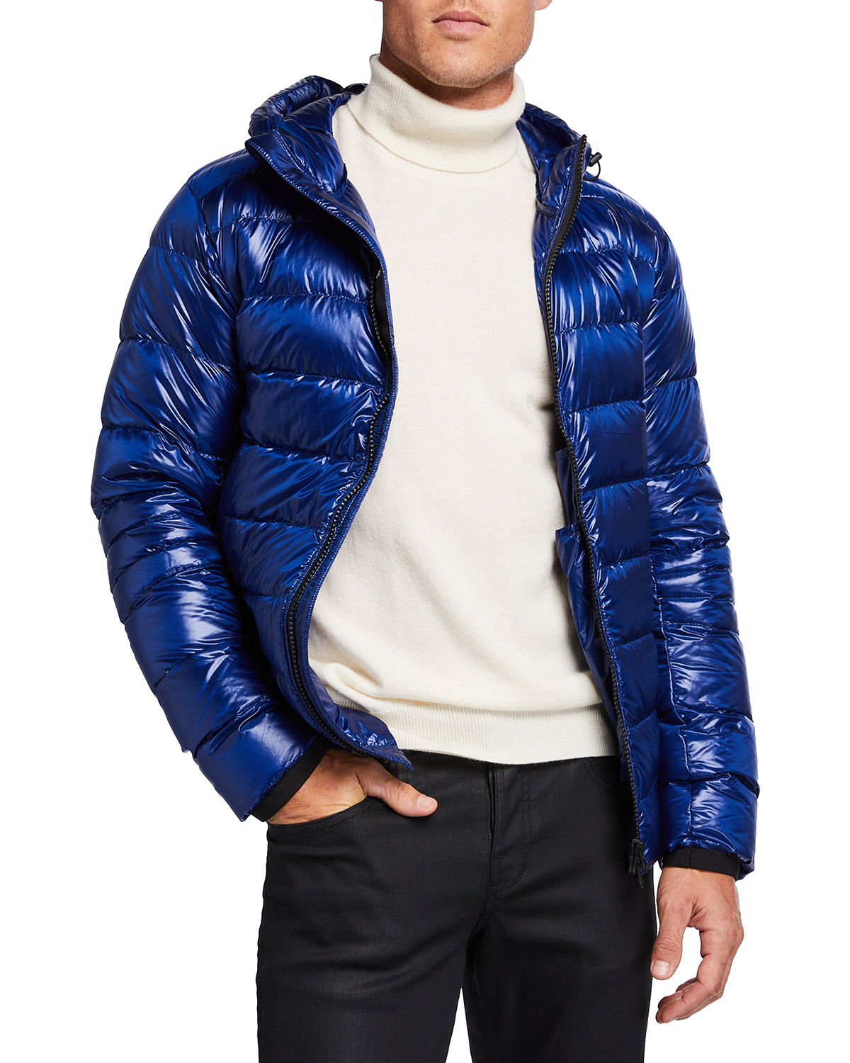 Men's Crofton Quilted Hooded Jacket