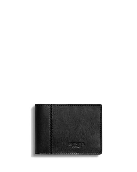 Shinola Men's Heritage Split Leather Bifold Wallet