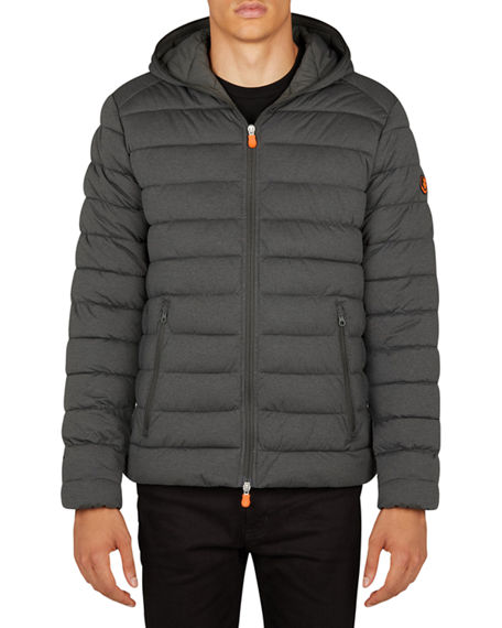 Save the Duck Men's Hooded Quilted Jacket