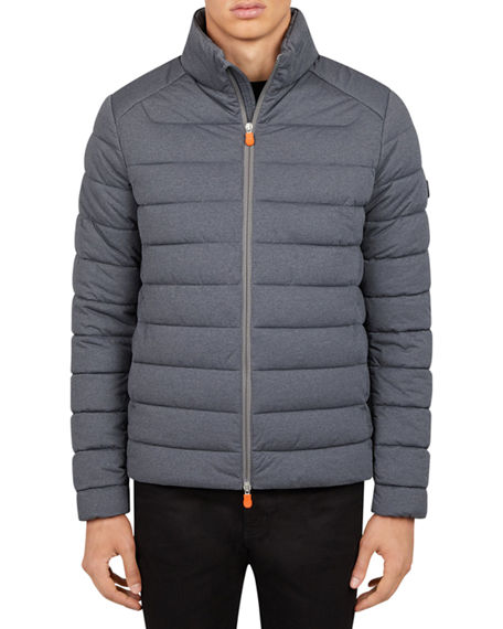 Save the Duck Men's Solid Quilted Jacket