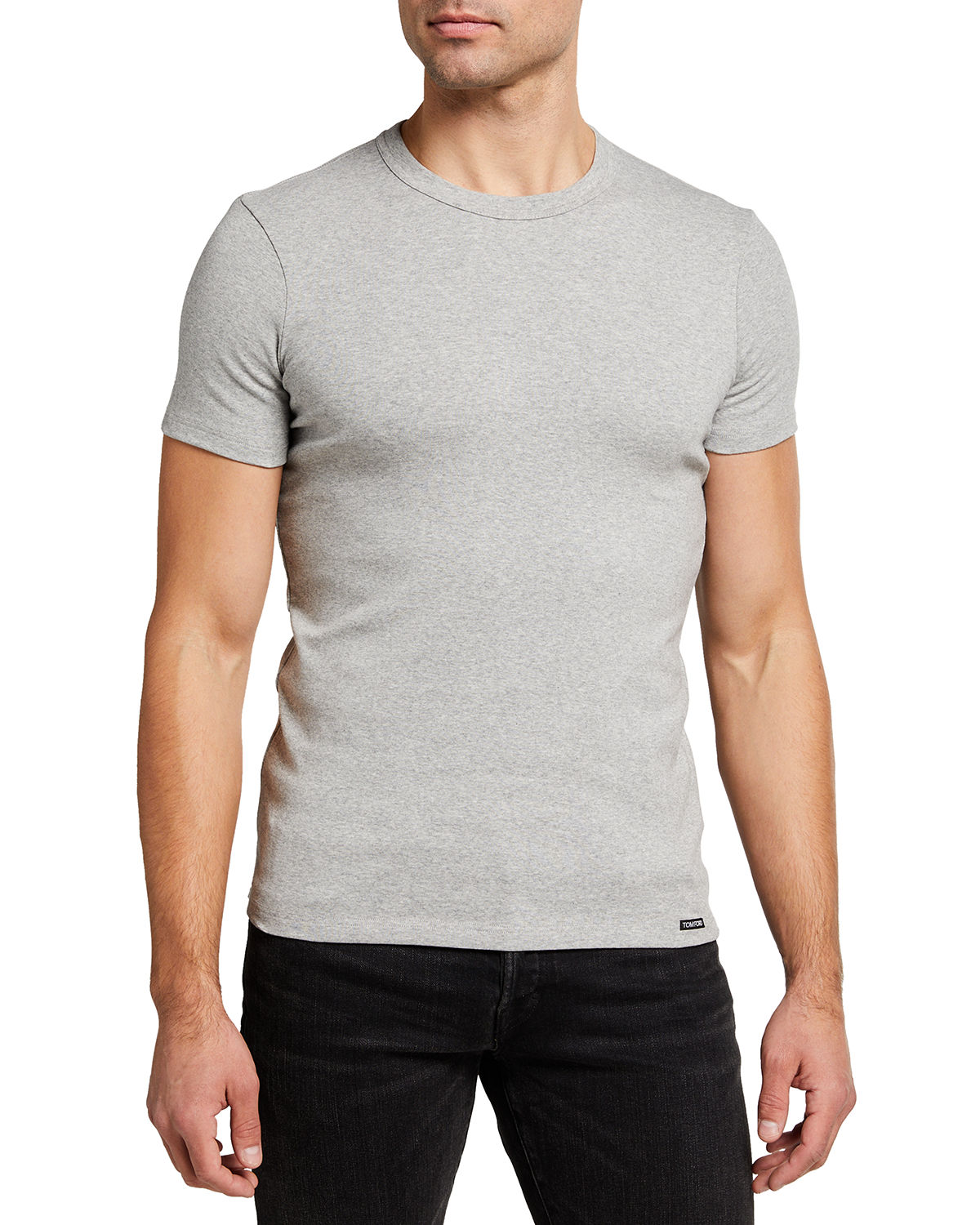 Tom Ford MEN'S SOLID STRETCH JERSEY T-SHIRT