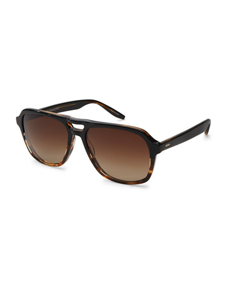 Barton Perreira Men's Modernist Aviator Acetate Sunglasses