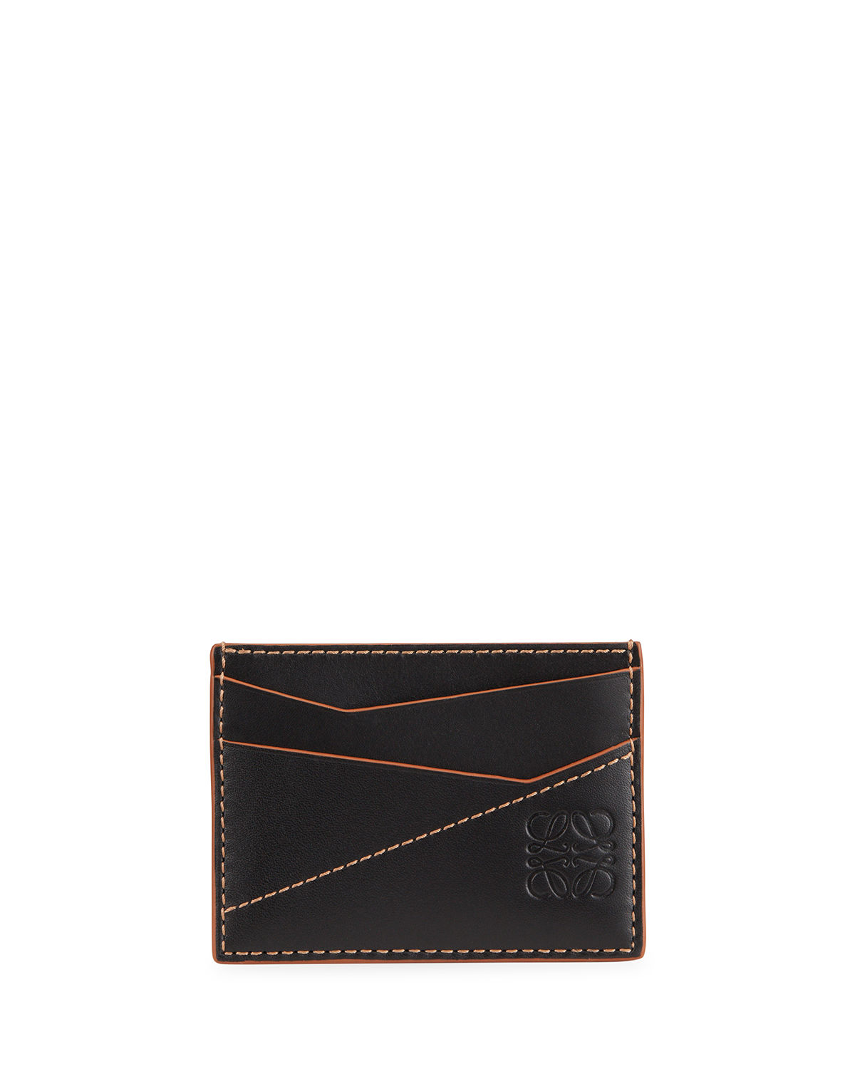 LOEWE MEN'S PUZZLE STITCHED LEATHER CARD CASE