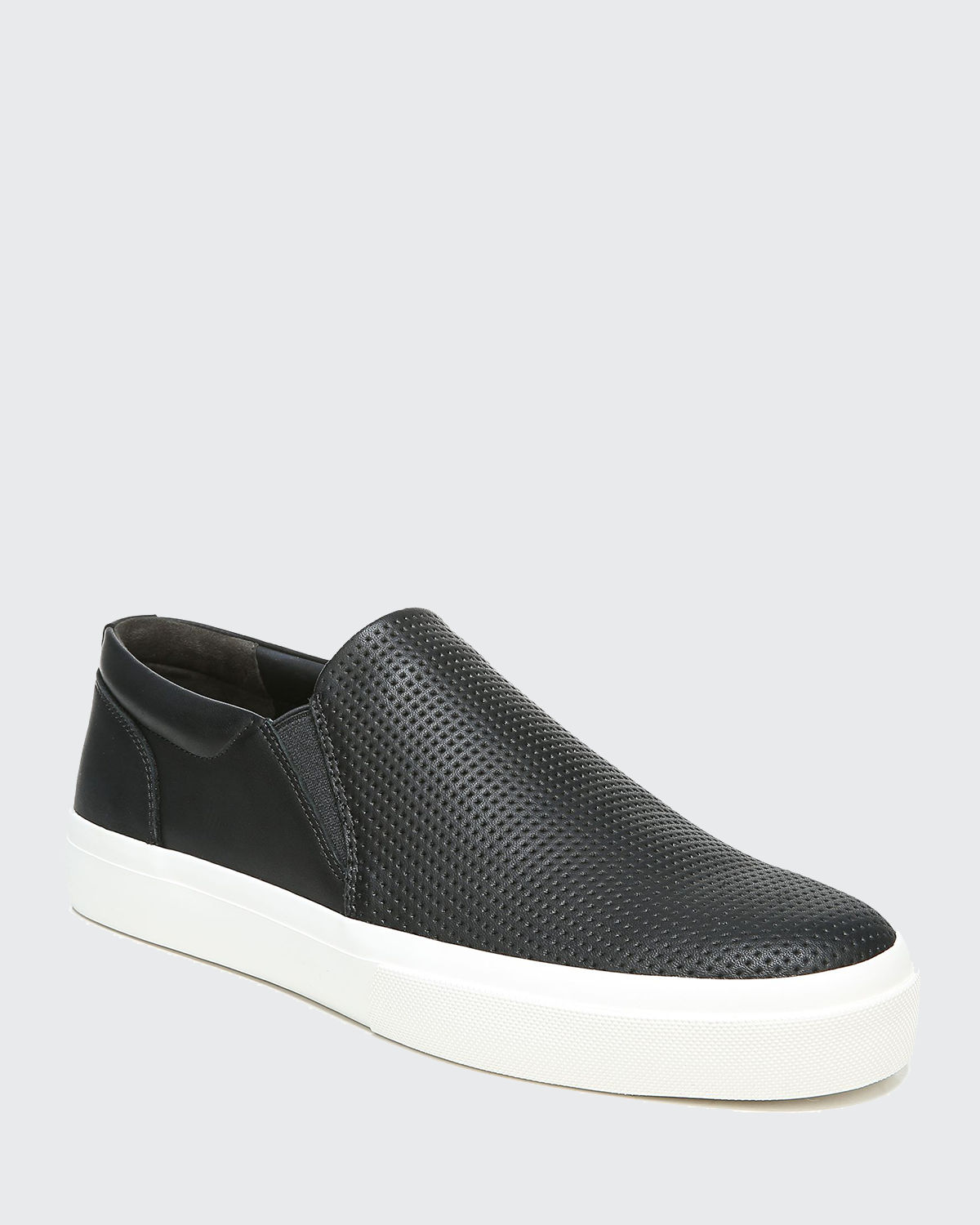 Men's Fletcher Perforated Leather Slip-On Sneakers