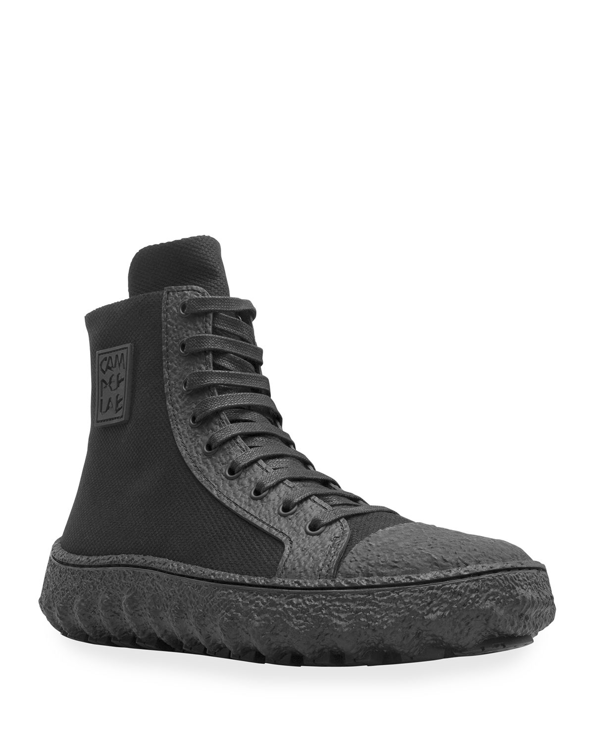 Men's Ground Canvas Textured-Sole High-Top Sneakers