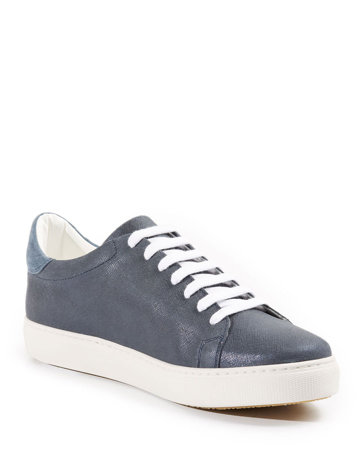 Men's Derby Textured Leather Low-Top Sneakers