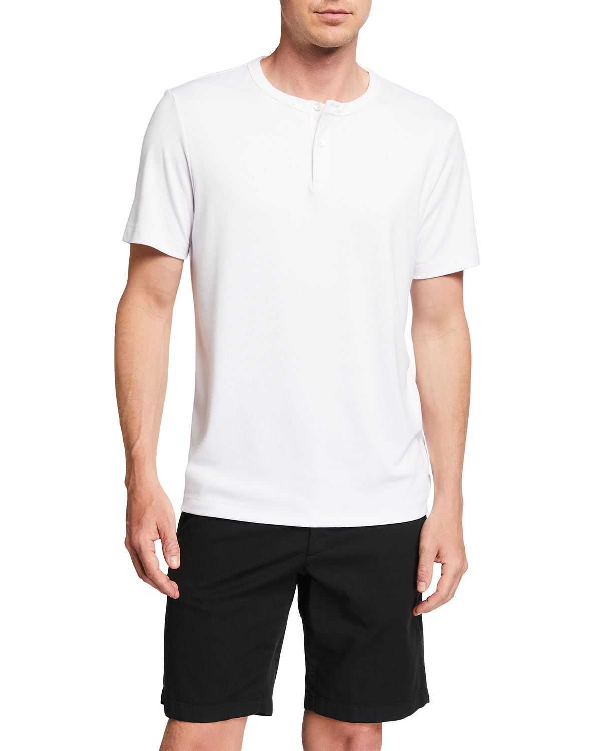Theory MEN'S ANEMONE GASKELL SHORT-SLEEVE HENLEY SHIRT