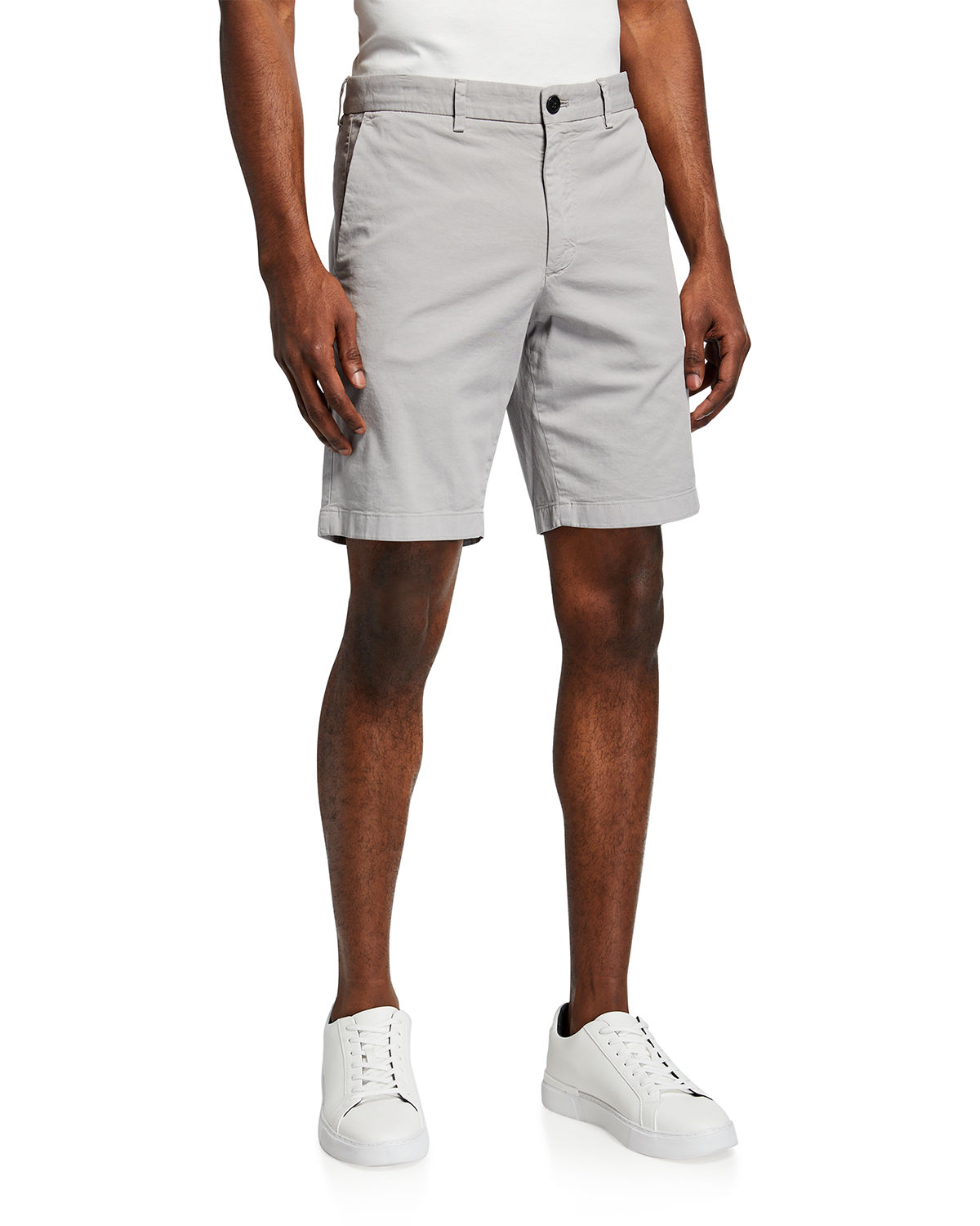 Theory Cottons MEN'S ZAINE SOLID CHINO SHORTS