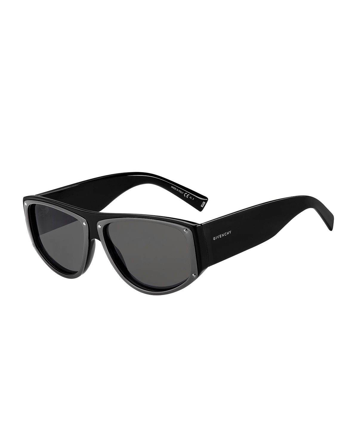 Givenchy MEN'S BOLD LIGHTWEIGHT RECTANGLE SUNGLASSES