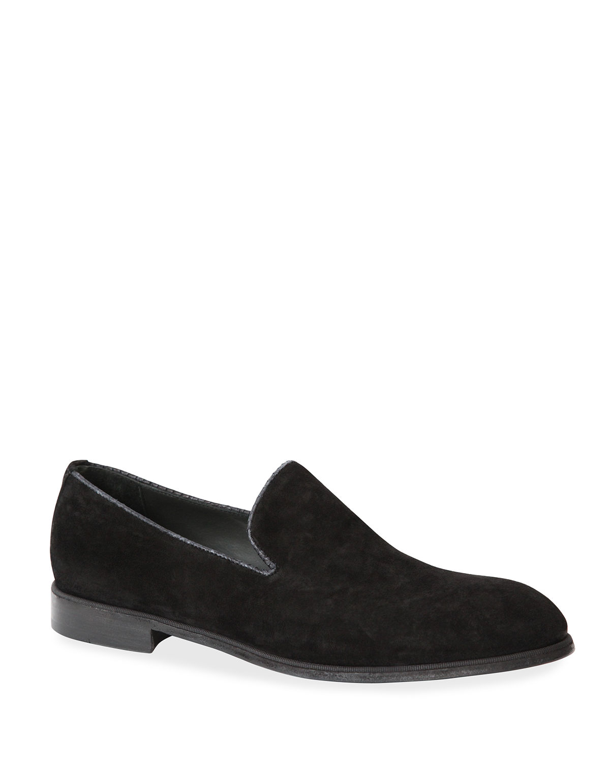 Men's Suede Loafers with Python Trim