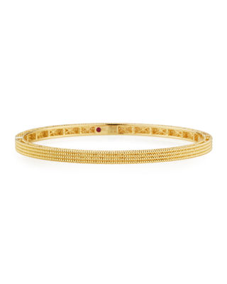 ROBERTO COIN Symphony Collection Gold Stacked Barocco Bangle In 18K Rose Gold in Yellow Gold