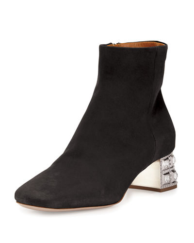 New Sale Online With Credit Card Cheap Online Miu Miu Suede Round-Toe Ankle Boots Pq9jO