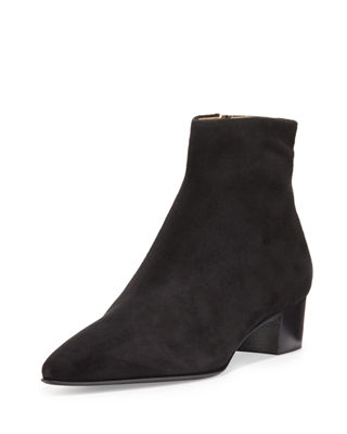 The Row Suede Ankle Boots