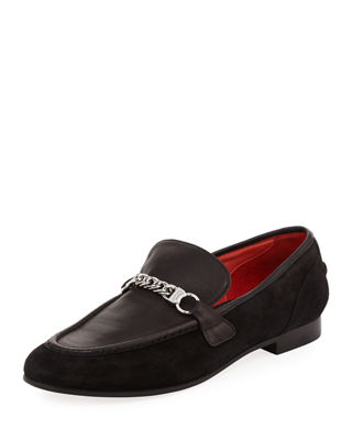 Cooper Suede Chain Loafer