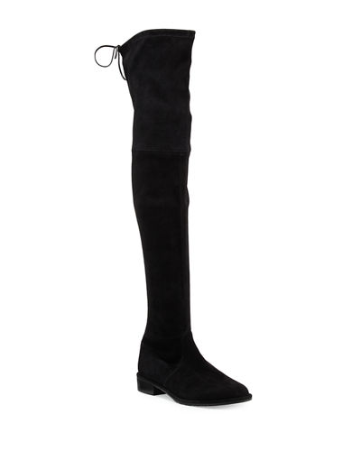 Stuart Weitzman Lowland Suede Over-The-Knee Boot and Matching