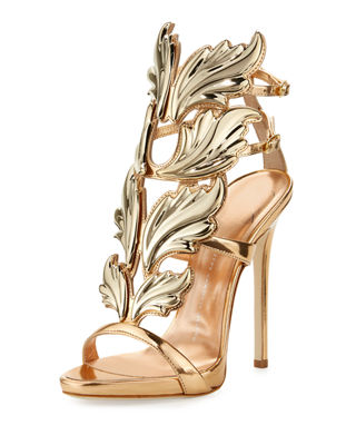 COLINE WINGS SUEDE 110MM SANDALS