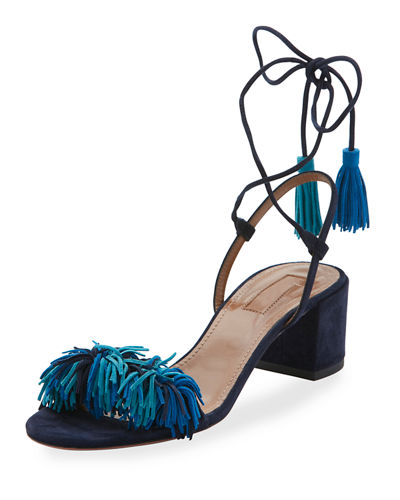 Aquazzura Wild Thing Suede 50mm City Sandal