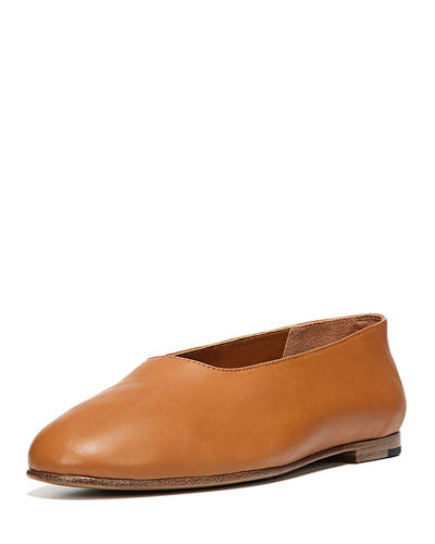 Maxwell Leather Flat
