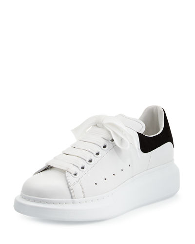 Leather Lace-Up Platform Sneaker