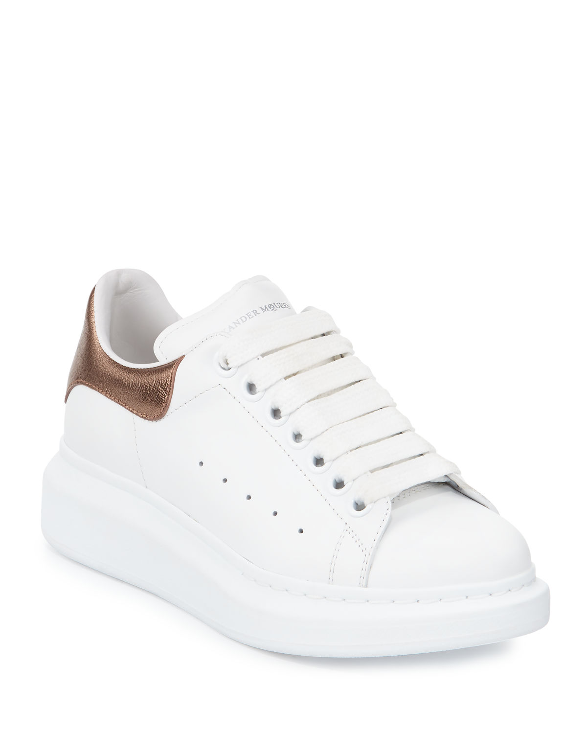 e9955a37e79 Alexander McQueen Leather Lace-Up Platform Sneakers