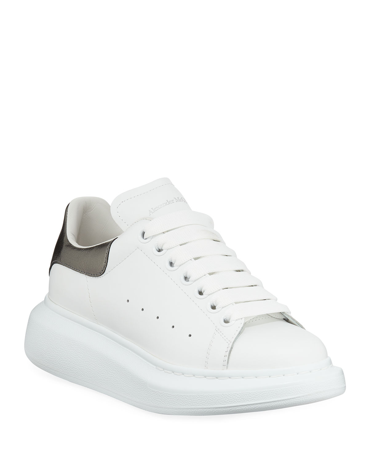 e4e505cb7866 Alexander McQueen Leather Lace-Up Platform Sneakers