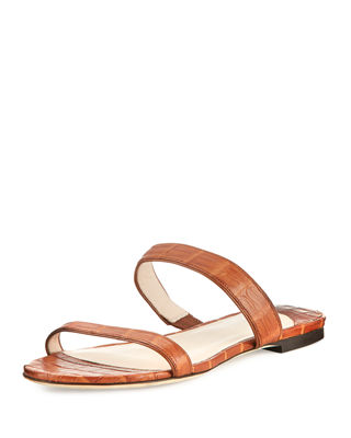 Frida Crocodile Slide Sandal