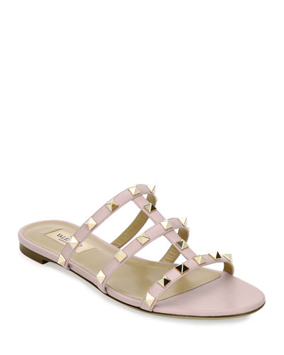 f52062b68485 Quick Look. Valentino Garavani · Rockstud Caged Flat Slide Sandals