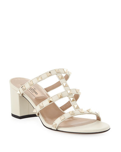 Rockstud Caged 60mm Slide Sandals