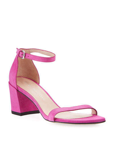Simple Suede Chunky-Heel City Sandal