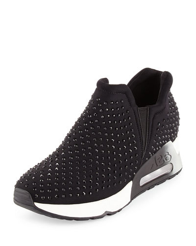 Lifting Crystal Slip-On Sneaker