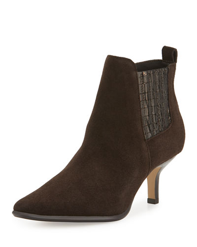Latour Suede Pointed-Toe Bootie
