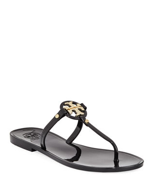 Image 1 of 3: Mini Miller Flat Leather Thong Sandal