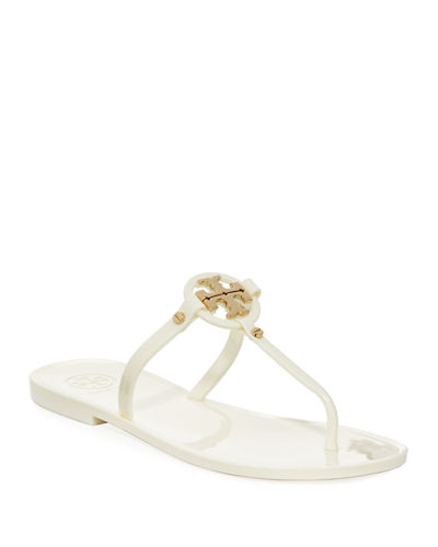Mini Miller Flat Leather Thong Sandal