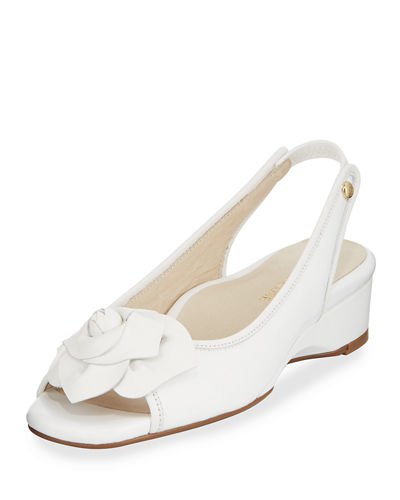 Karlos Flower Demi-Wedge Sandal
