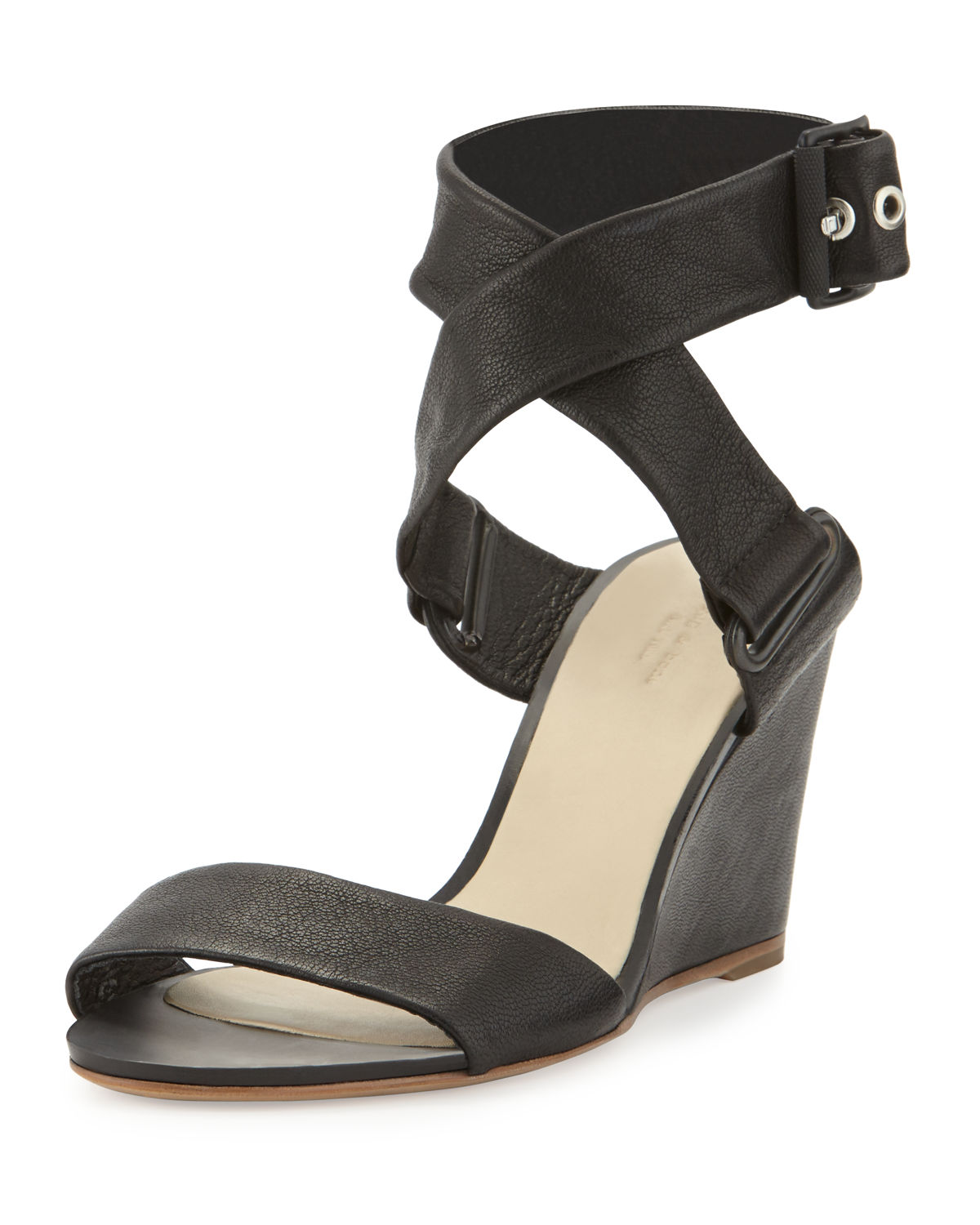 Damien Leather Wedge Sandal