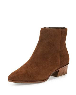 Neiman Marcus Leather Ankle Boots