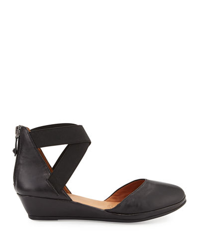 Noa Leather d'Orsay Wedge