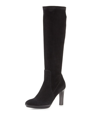 Rumbah Weatherproof Suede Knee Boot
