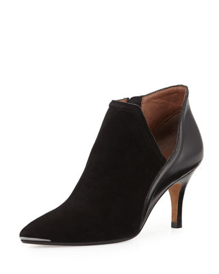 Donald J Pliner Suede Pointed-Toe Ankle Boots