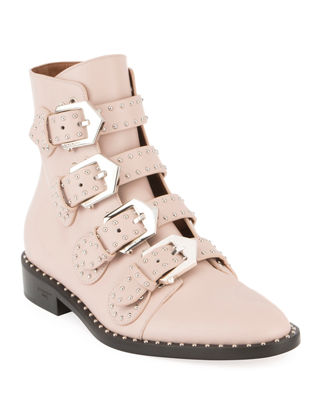 Image 1 of 3: Studded Leather Ankle Boot