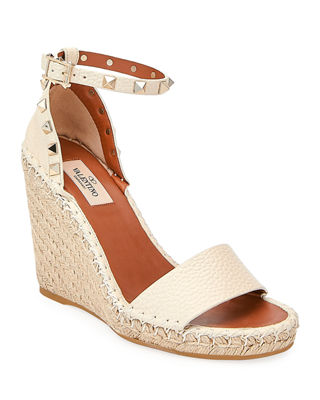 Image 1 of 4: Rockstud Double Espadrille Wedge Sandal