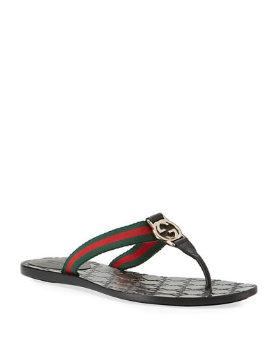 GG Web Thong Sandals