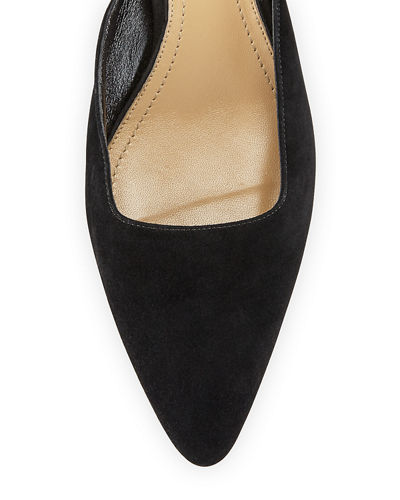 THE ROW Coco Suede 40mm Mule