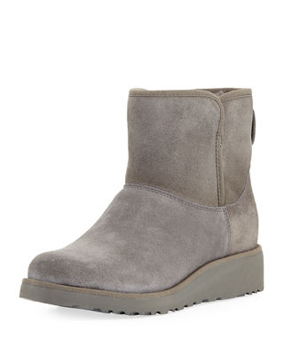 Kristin Classic Slim™ Mini Boot, Grey, Grey Suede