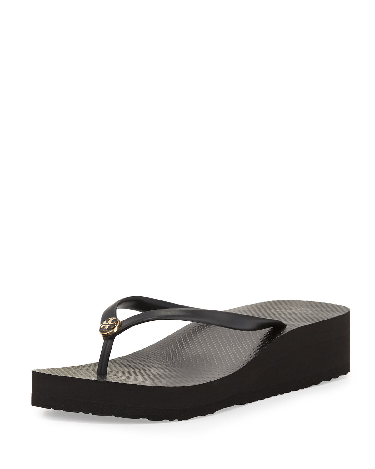 Tory Burch Wedges RUBBER WEDGE FLIP-FLOP