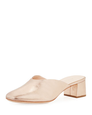 Loeffler Randall Lulu Leather Block-Heel Mule Slide