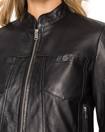LaMarque Natana Chest Pocket Leather Moto Jacket