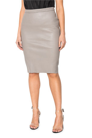 LaMarque Avana Stretch Leather Pencil Skirt