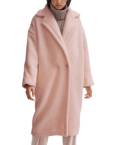 Estelle Soft Plush Faux-Fur Long Coat